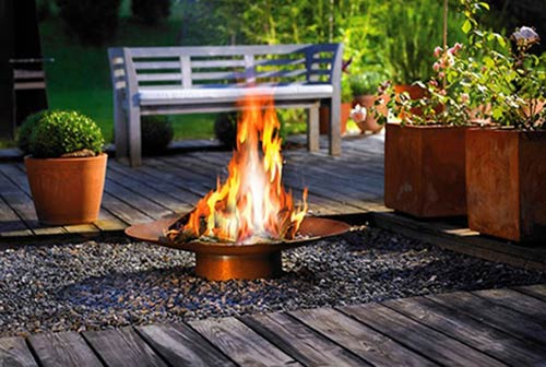 With one of our outdoor fire pits in your landscape, you can make your ...